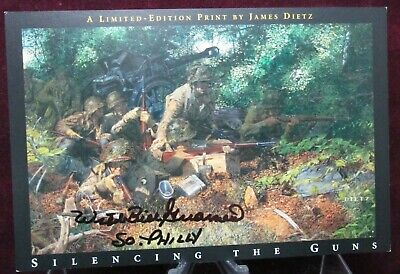 Band Of Brothers 4X6 Dietz Postcard Signed By William Wild Bill Guarnere 101st