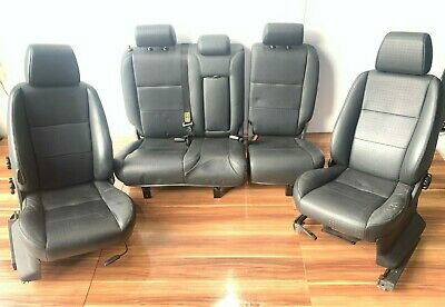 LAND ROVER FREELANDER 1 BLACK HEATED LEATHER SEATS FRONT REAR BENCH