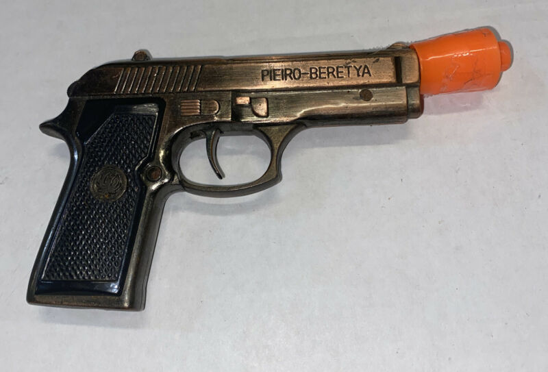 For Restore Gun Cigarette Lighter Pieiro Beretya M-9 Sparks Bronze Color