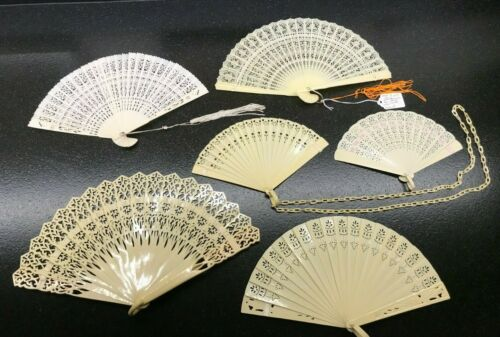 ANTIQUE/VINTAGE FRENCH IVORY (CELLULOID) FAN COLLECTION - 15
