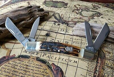 Buck Creek Stag Bobcat Congress knife Hand Made in Solingen, Germany