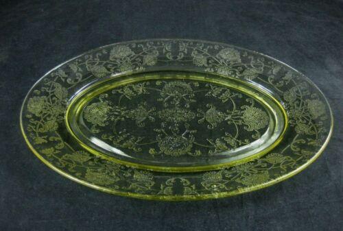 "Vintage Hazel Atlas FLORENTINE POPPY #2 Oval Platter 11"""