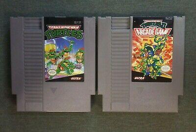 NES 2 game lot Teenage Mutant Ninja Turtles 1 & 2 (Authentic Nintendo) Tested