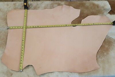Avetco NATURAL VEG TAN COWHIDE TOOLING LEATHER 7/8 oz SINGLE & DOUBLE SHOULDERS