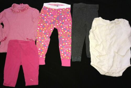 5 Pc Baby Girls Lot Size 24 Month 2t Hello Kitty Sleep Bottoms Pants Tops Puma