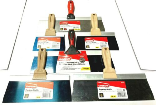 "Goldblatt Drywall Taping Knife Set 6"" 8"" 10"" 12"" 14"""