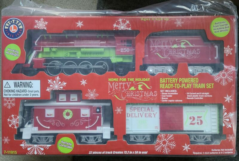 Lionel Home for The Holiday Battery-Powered Model Train Set