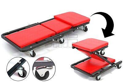 Camilla para taller mecánico convertible en asiento con 6 ruedas 360º
