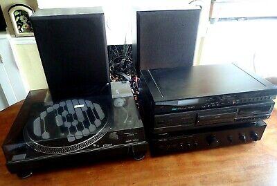 VINTAGE HI-FI SYSTEM ROTEL AMP/TECHNICS CD TUNER SOUNDLAB DECK LINN INDEX SPEAK.