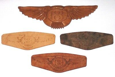 Bentley Mulsanne+Flying Spur+Continental-GT+Bentayga Holz/wood Emblem/badge/Logo