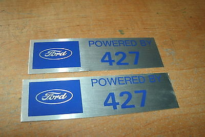 Ford Fairlane Shelby Galaxie Mustang 427 Valve Cover Decals Pair Silver/blue