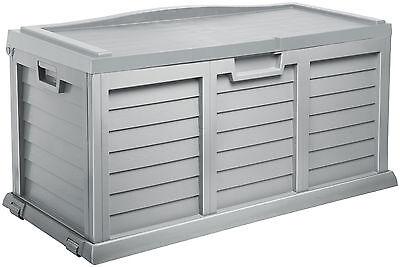 Auflagenbox, Gartentruhe, Kissenbox Garten, Xxl M. Sitzfläche Silber Gartenbox,
