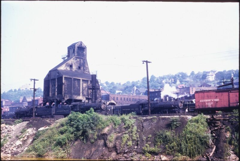 B&O BALTIMORE & OHIO RR - L1a BELPAIRE FB 0-8-0s, MIKES, COAL TOWER @ GRAFTON WV