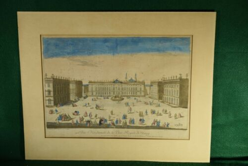 Antique Optical Print DAUMONT Vüe Méridionale de la Place Royale de Nancy - RARE