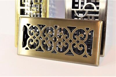 Decor-Grates-Floor-Register-Air-Vent-Scroll - Antique 4x10, 4x12, 4x14, 2x12. (Decorative Floor Grates)