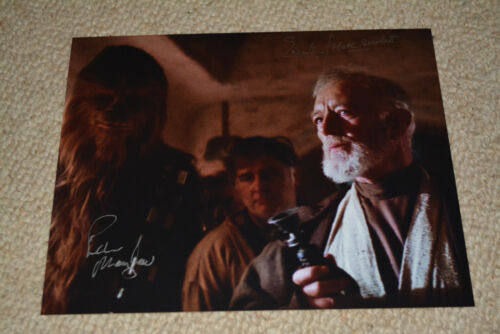 PETER MAYHEW & TED WESTERN signed  Autogramm In Person 20x25 cm STAR WARS