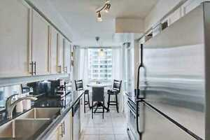 All Utilities incl 2 Bedroom 2 bath Condo at Bayview Subway st