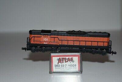 N Scale Atlas 4509 Bessiemer SD-7 Powered Diesel Locomotive 801 C7782 for sale  Middlesboro