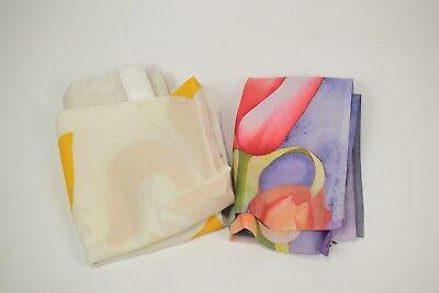 Lot of 2 colorful 2'x3' garden flags - Hautman + Fleur de Lis
