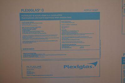 Plexiglass Sheet Cell Cast Clear Acrylic 14 X 72 X 24