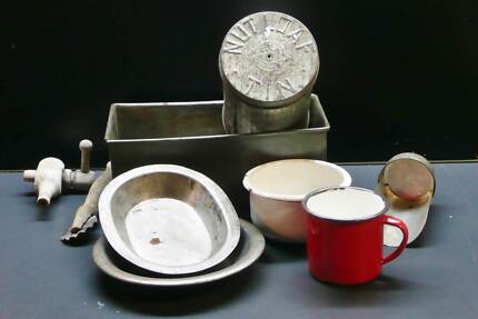 VINTAGE COLLECTABLE KITCHENALIA BOX LOT Bakery Hill Ballarat City Preview