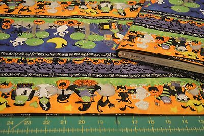 SOUTH SEAS - MIDNIGHT MONSTERS- HOLLOWEEN 38245-478 NEW QUILT COTTON * BY THE YD