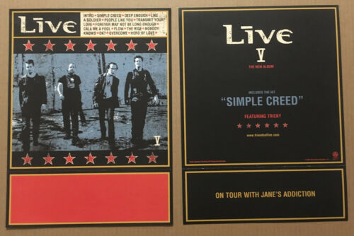 Ed Kowalczyk LIVE Rare 2001 DOUBLE SIDED PROMO POSTER FLAT for V CD 12x16 USA