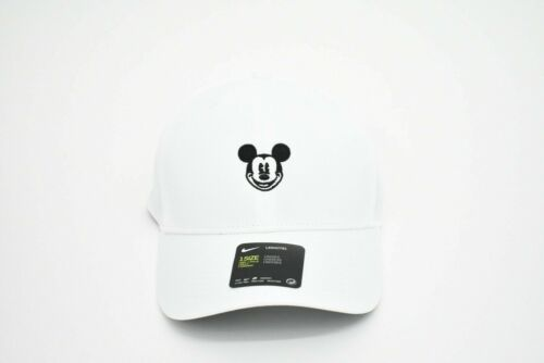 NEW Disney Parks Mickey Mouse Icon Baseball Hat Nike Legacy 91 Dri Fit White New