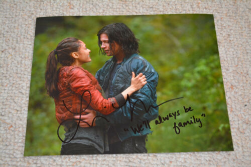 LINDSEY MORGAN signed  Autogramm 20x25  In Person THE 100 Raven + QUOTE