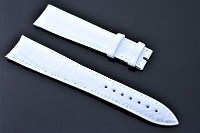 Original Girard Perregaux Uhrenarmband 20mm Echt Kroko Weiß band Crocodile Strap