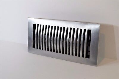 Decor-Grates-Floor-Register-Air-Vent-Aluminum Nickel 4x10, 4x12, 4x14, 2x12. (Decorative Floor Grates)