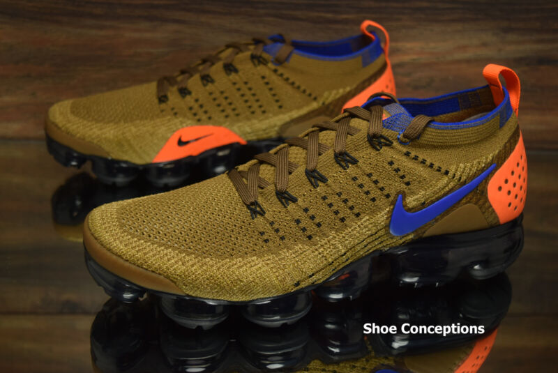new styles 59b90 c108f Nike Air Vapormax Flyknit 2 Running Shoes Golden Beige 942842-203 Men s NEW