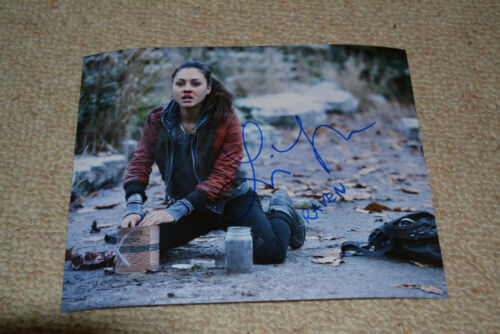 LINDSEY MORGAN signed  Autogramm 20x25 cm In Person THE 100 Raven + ZUSATZ