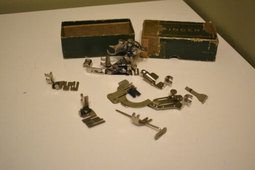 Vintage Singer Sewing Machine Mixed Attachment Lot