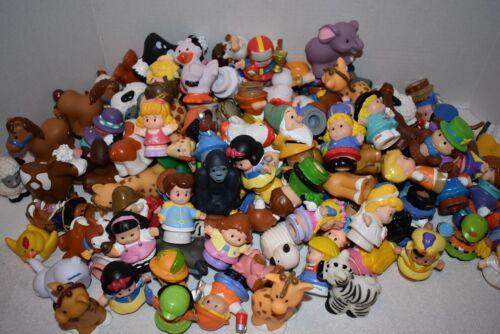 """Fisher Price Little People """"Lot of 11"""" Boy/Girl/Animal Figures-Randomly Selected"""