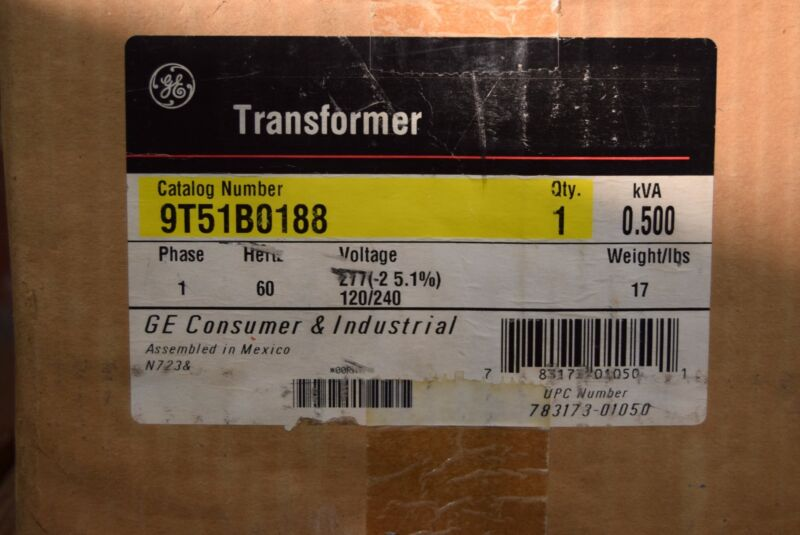 GE General Electric 9T51B0188 Transformer NOS