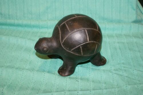 "Black CERAMIC  BOX Turtle  4.5""H X 7""L"