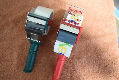 Two 2 Hand Held Tape Dispensers 1 Roll Ebay Tape 1 Roll Clear Tape Sale