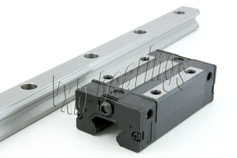 "Heavy Duty 20mm 30"" Rail CNC Guideway System Square Slide Unit Linear Motion"