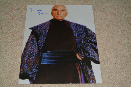 TERENCE STAMP signed autograph  8x10 ( 20x25 cm) STAR WARS Valorum