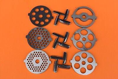 Kitchenaid Mixer food grinder replacement parts  All six discs plus 3 knives FGA