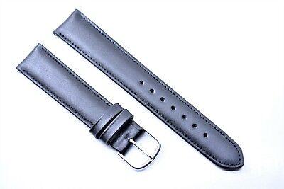 Junghans Ersatzband Uhrenarmband Leder Band Passend Max Bill 18 mm Schwarz