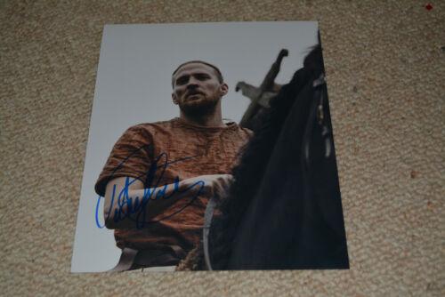 TOBIAS SANTELMANN signed autograph 8x10  In Person THE LAST KINGDOM Ragnar