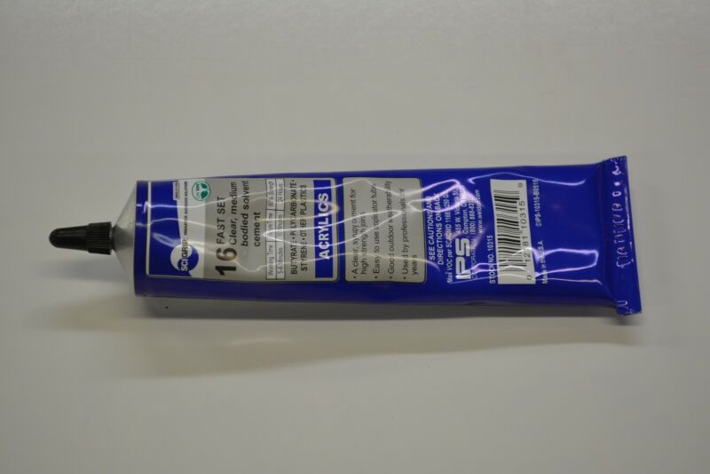 plastic acrylic plexiglass glue adhesive #16  WELD-ON  5 oz                   16