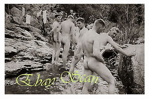 Vintage S Nude Soldiers Show Naked Bodies During Swim Gay