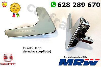 SEAT IBIZA CORDOBA MANETA tirador De La Puerta Interior DERECHA Copiloto CROMADA segunda mano  Madrid