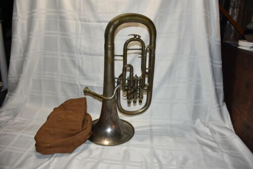 Vintage 3 valve Horn J.W,Jenkins Heinem Music Co., Kansas City. Made In Austria