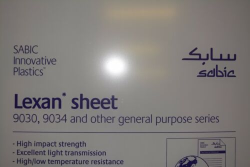 "Lexan Sheet 1/4"" Clear  60"" x 32"""