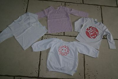 **£** lot de 4 t-shirts lm  2 ans