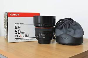 Canon EF 50mm f1.2L - MINT CONDITION! IN BOX Brunswick Moreland Area Preview